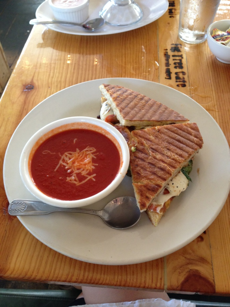 Caprese sandwich + soup