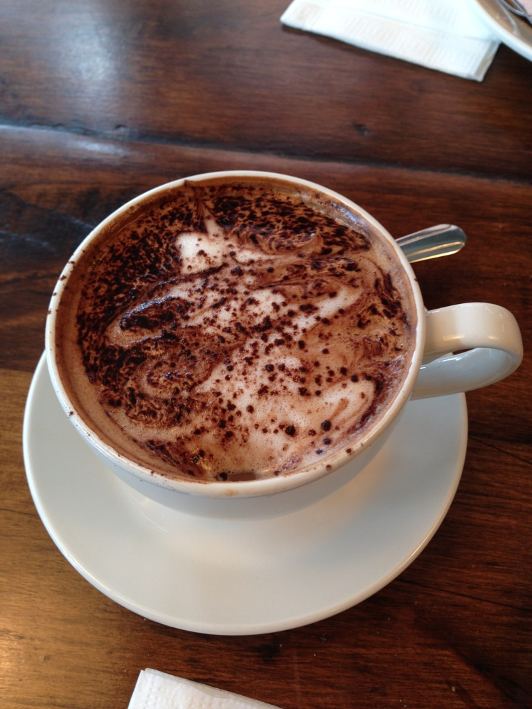The breakfast mocha--unfortunately I was too busy binging to get any pictures when the food came out!
