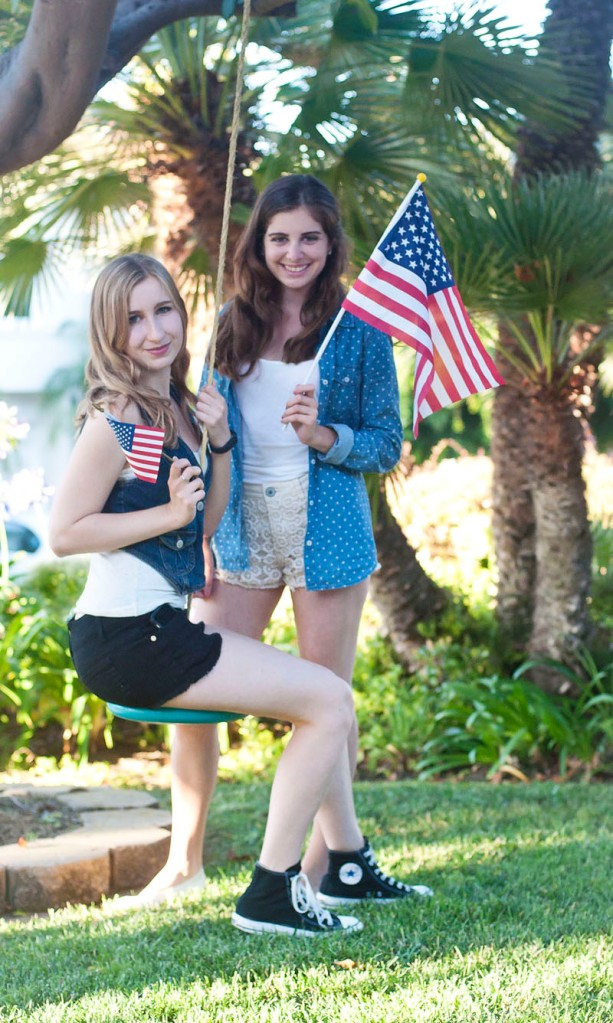 From our 4th of july mini shoot! (I'm the blonde one)