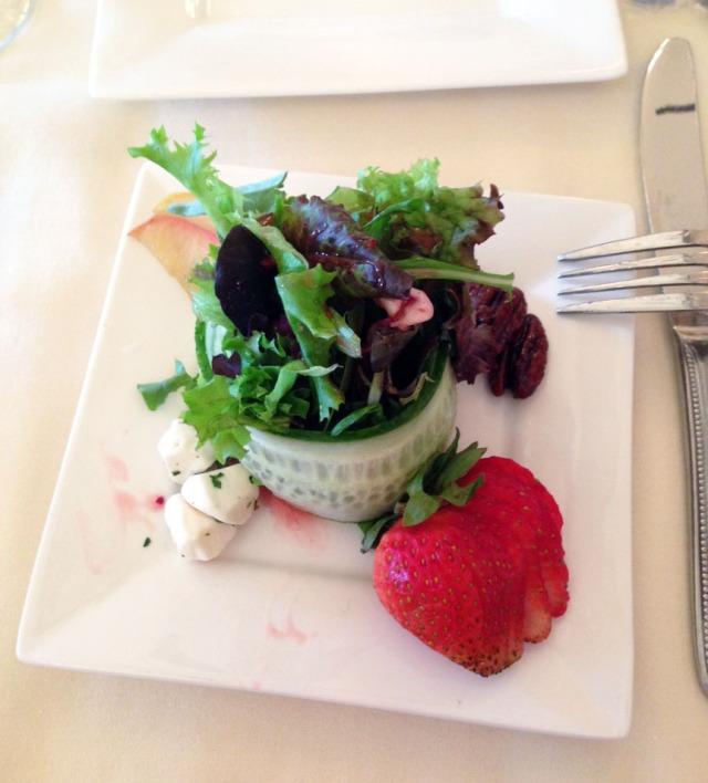 Amazingly presented reception salad
